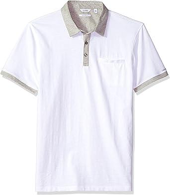 Calvin Klein Hombre 40I6111 Manga Corta Camisa Polo - Blanco - X-Large: Amazon.es: Ropa y accesorios