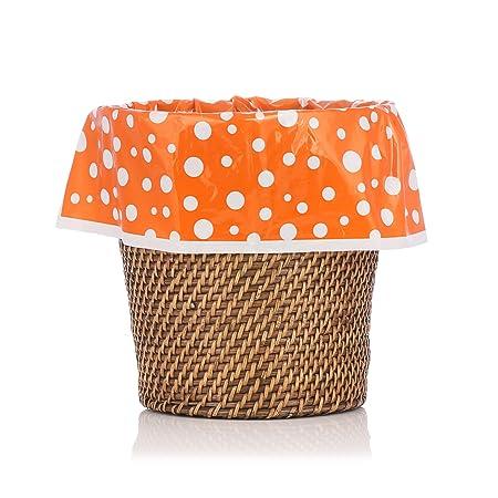 Decoración del hogar - Designerliner naranja supgod con lunares ...