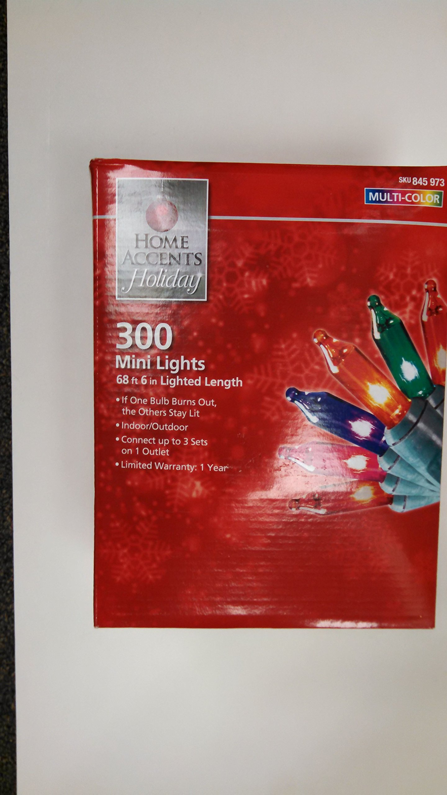Home Accents Holiday 300 Light Mini Multi-color Light Set