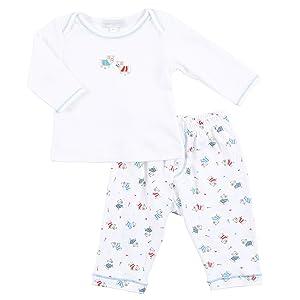 Magnolia Baby Baby Boys Bulldog Printed 2pc Pant Set Blue (9 Months)