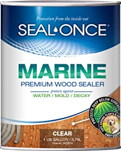 SEAL-ONCE MARINE Wood Sealer & Stain