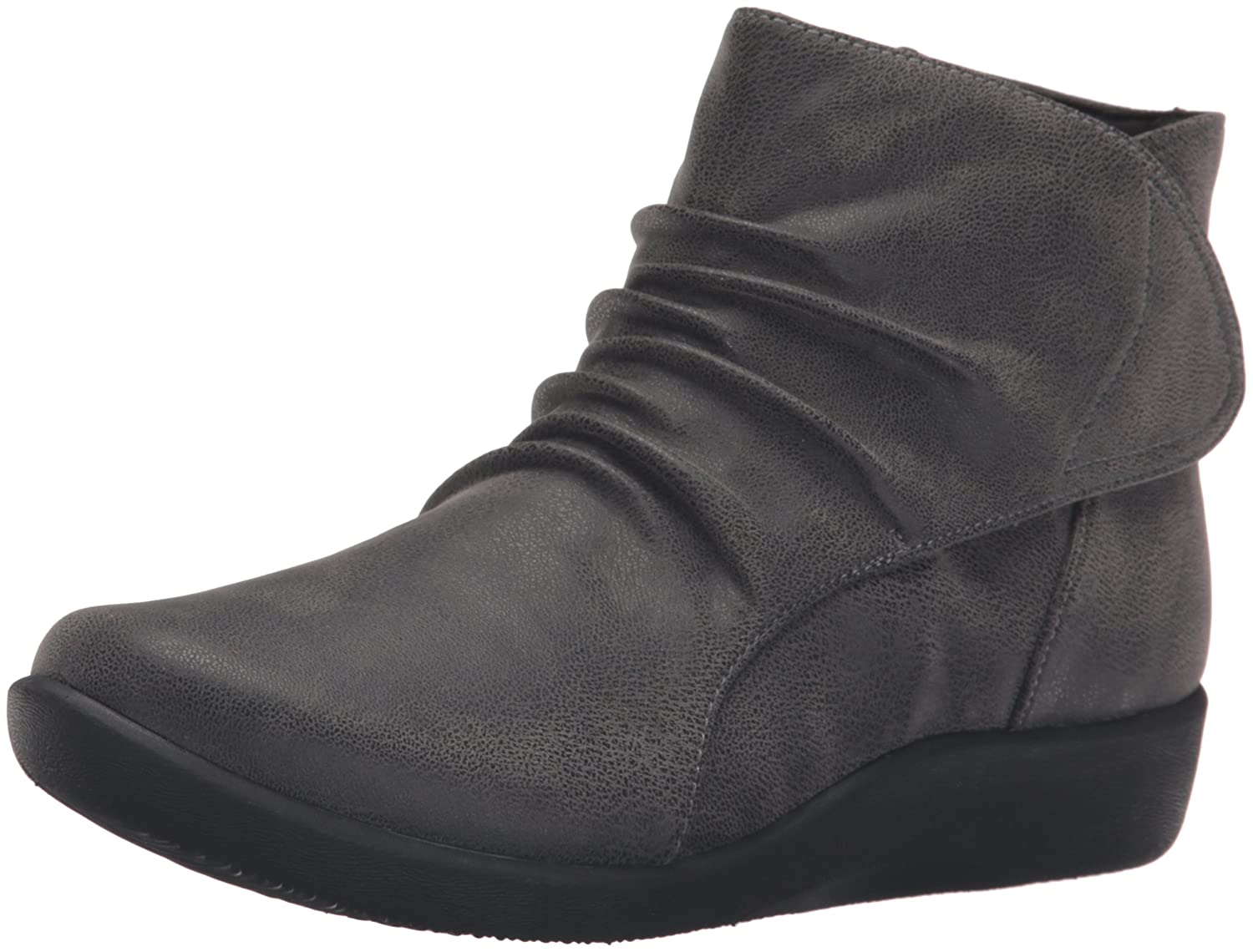 CLARKS Women's Sillian Chell Boot B0198WAZBO 8 B(M) US|Grey Synthetic Nubuck