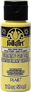 product image for FolkArt Extreme Glitter Paint, Lemon Crush