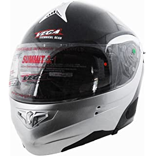 Vega Summit 3.1 2-Tone Modular Full Face Helmet (Gloss Black/Silver,