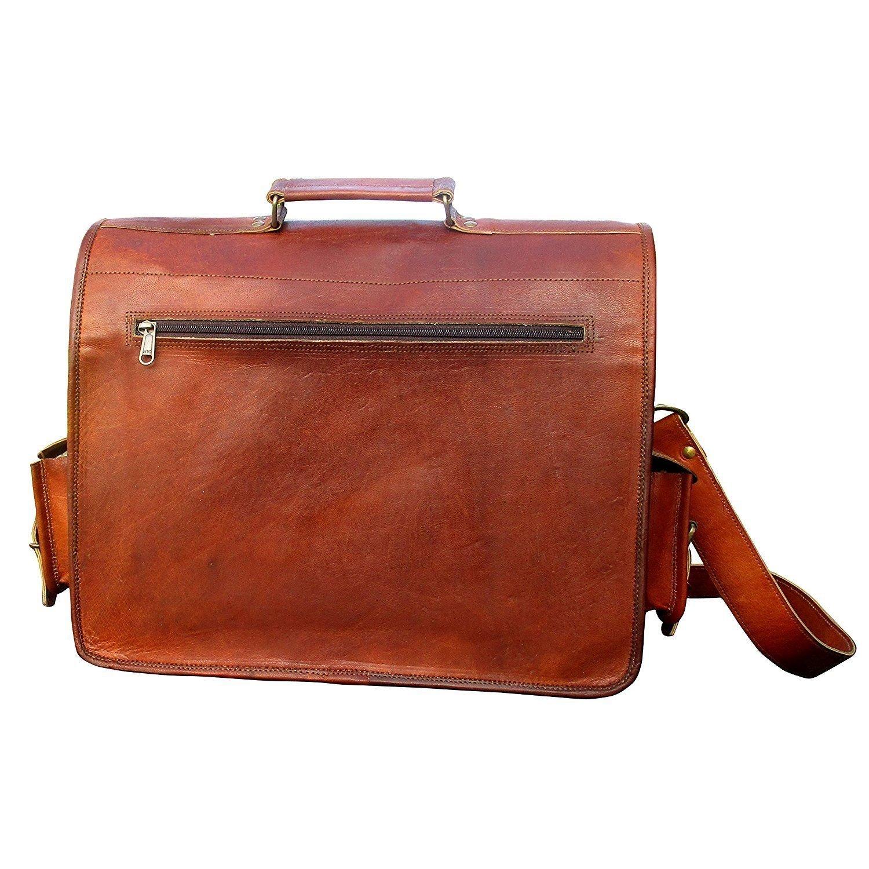 Vintage Handmade Leather Messenger Bag for Laptop Briefcase Satchel Bag