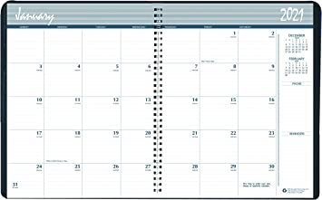 Amazon Com House Of Doolittle 2021 2022 Two Year Calendar Planner Monthly Black Hard Cover 8 5 X 11 Inches January December Hod262092 21 Office Products