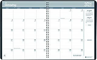 product image for House of Doolittle 2021 Calendar Planner, Monthly, Black Cover, 6.9 x 8.75 Inches, December - January (HOD262602-21)