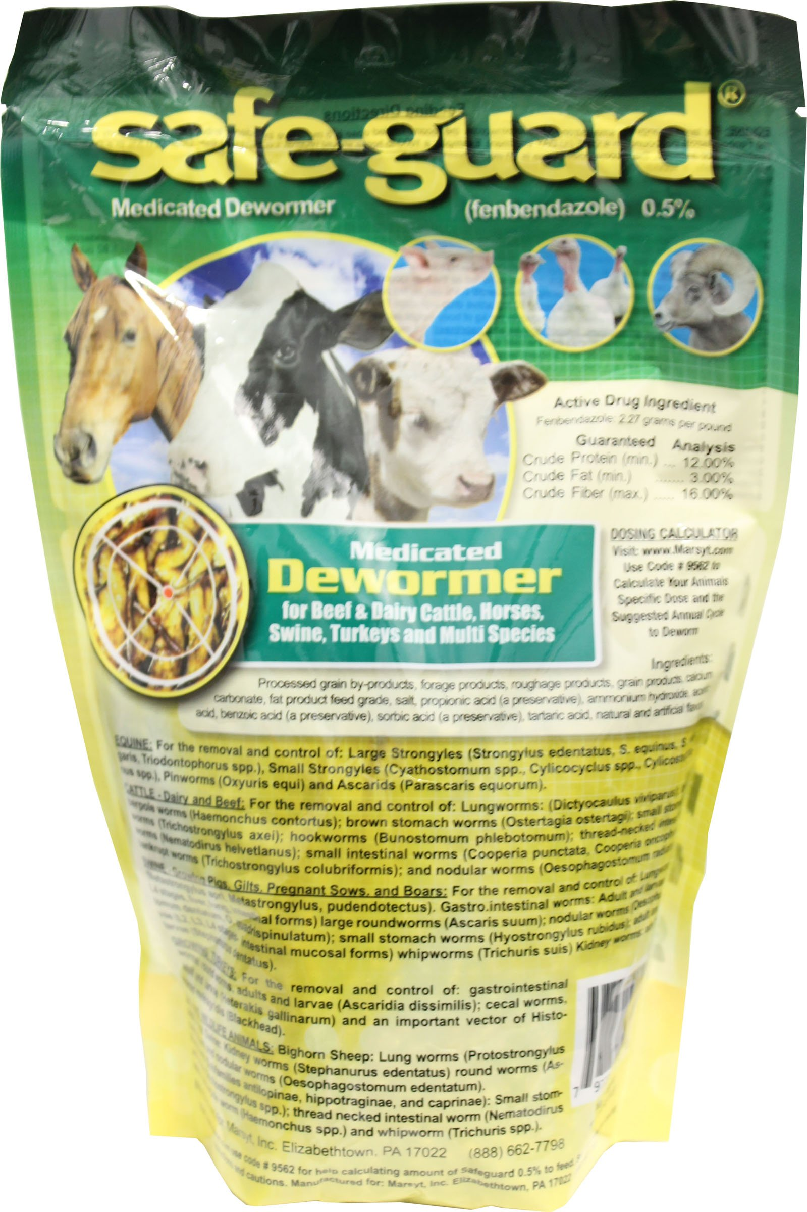 Merck Animal Health Mfg-Safeguard .5% Multi-Species Wormer 1 Lb
