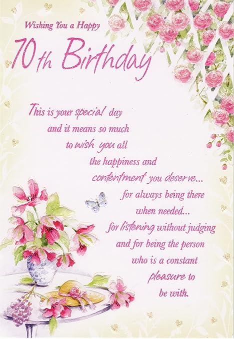 Wishing You A Happy 70th Birthday