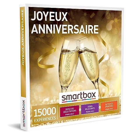 Smartbox Coffret Cadeau Homme Femme Couple Joyeux Anniversaire Idée Cadeau 15000 Expériences Repas Gourmands Soins Relaxants Et Activités