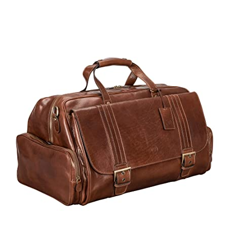 26af4b422f017 Maxwell-Scott® Luxury Tan Mens Handcrafted Italian Leather Holdall Bag (The  DinoM): Maxwell Scott: Amazon.co.uk: Clothing