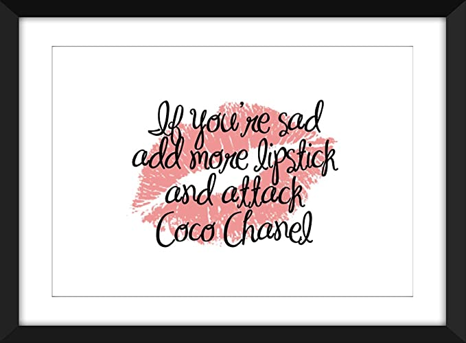 The Power Of Lipstick Quotes Choice Of 4 Unframed Print Amazonco