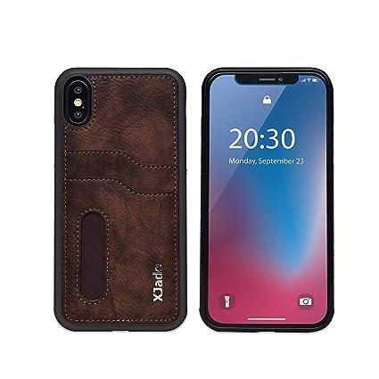 Amazon.com: XJade - Funda de piel tipo cartera para iPhone ...