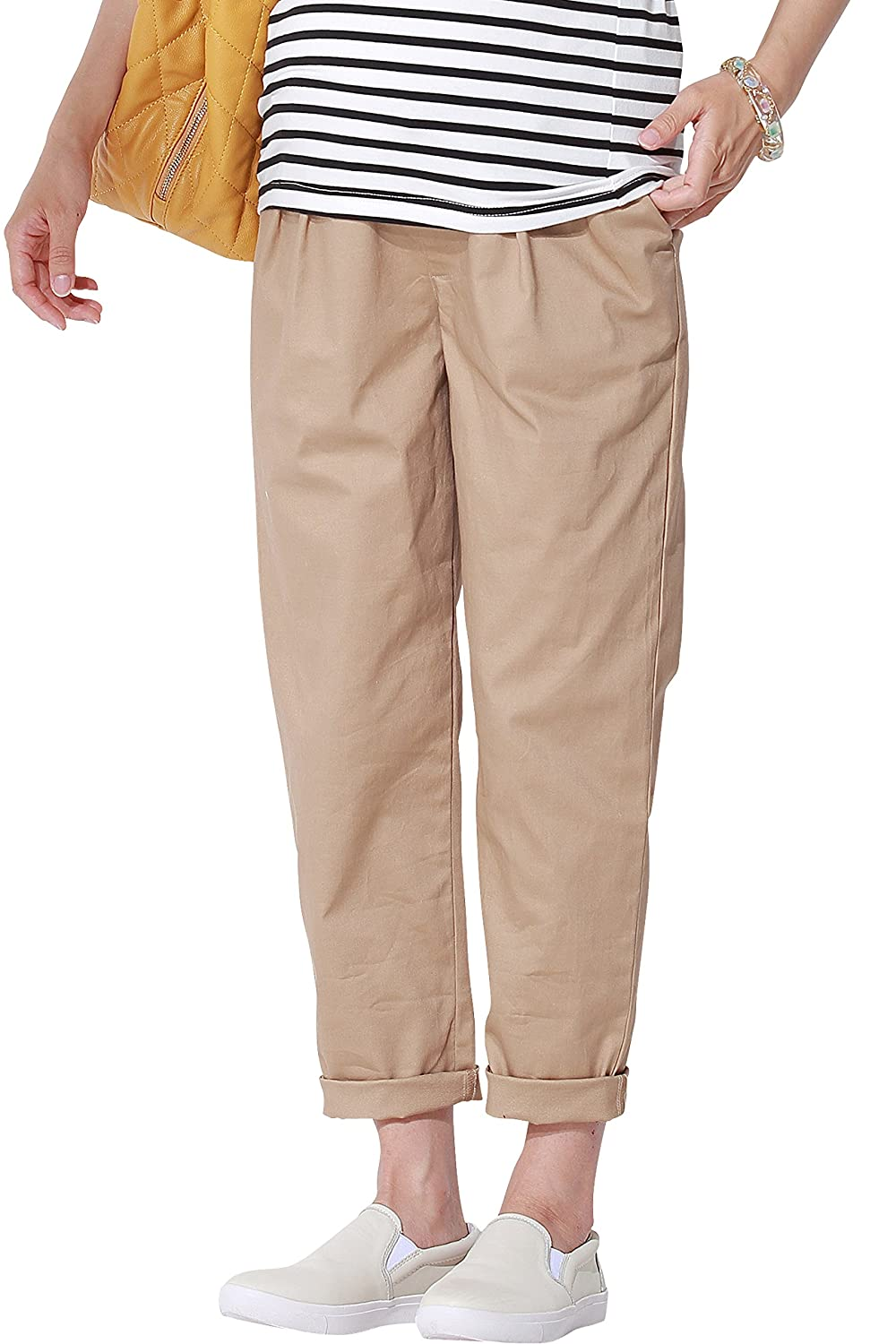Sweet Mommy Maternity Tapered Cotton Chino Pants Sweet Mommy Co. Ltd. sp5085