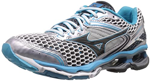 Mizuno Women's Wave Creation 17 Running Shoe, Silver/Blue Atoll/Dark Shadow,6 M US