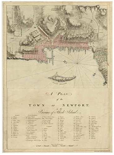 Amazon.com: Newport Town Rhode Island 1776 Map ... on map of long island 1776, map of north america 1776, map of nantucket 1776, map of manhattan 1776, map of africa 1776, map of germany 1776, map of great britain 1776, map of american colonies 1776, map of mexico 1776, map of united states 1776, map of texas 1776, map of dorchester heights 1776, map of california 1776, map of massachusetts 1776, map of philadelphia 1776, map of alaska 1776, map of canada 1776, map of russia 1776, map of trenton 1776, map of virginia 1776,