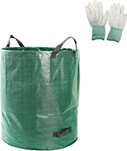 KINGRUI28 2 Pack 72-Gallon Reusable Garden Lawn Bag, Large-Capacity Leaf Container Bag, Portable Garbage Yard Bag, with 3 Handles.