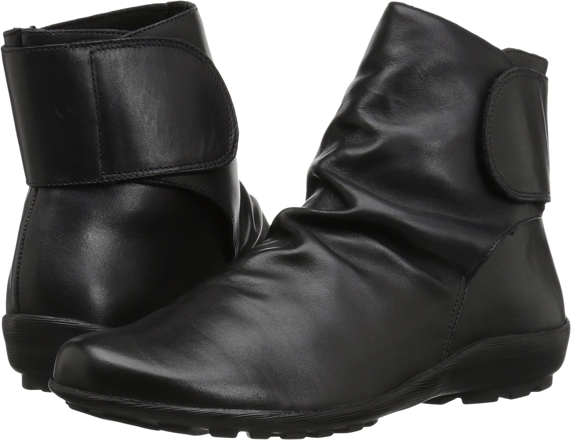 Walking Cradles Women's Harlow Ankle Boot, Black Soft Antique Leather, 8.5 M US