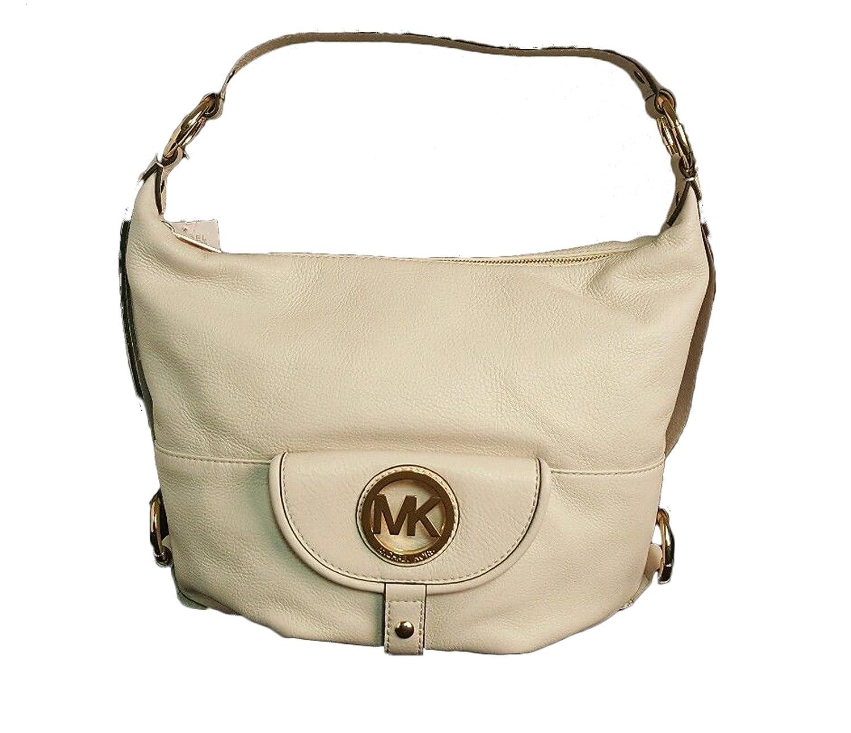 81a8d77cdb789b Michael Kors Fulton Large Vanilla Off-White Leather Shoulder Bag: Handbags:  Amazon.com