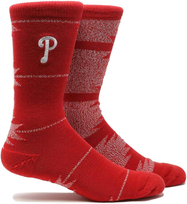 PKWY Unisex Philadelphia Phillies Clubhouse Collection 3-Pack Crew Socks