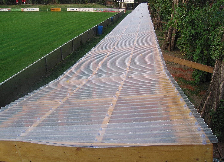BxL gewellt 1mm stark natur-transparent Lichtbahn aus Polyester ca 76//18 Wellbahn 2500mmx2500mm