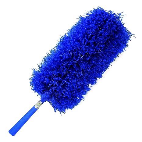 cleansgreen plumero de microfibra: con su extensión poste extensible para quitar el polvo y limpieza