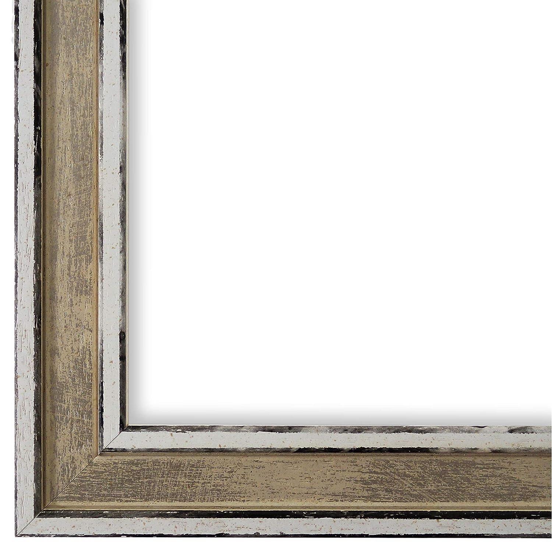 Online Galerie Bingold Bilderrahmen Beige Weiß 40 x 50 cm 40x50 - Modern, Shabby, Vintage - Alle Größen - handgefertigt in Deutschland - WRU - Lugnano 2,8
