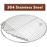 QuliMetal 19.5 Inch SUS 304 Round Cooking Grate Cooking Grid for Akorn Kamado Ceramic Grill, Pit Boss K24, Louisiana…