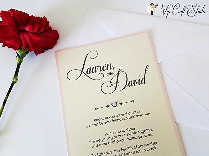 amazon com layered wedding invitations with rsvp cards and