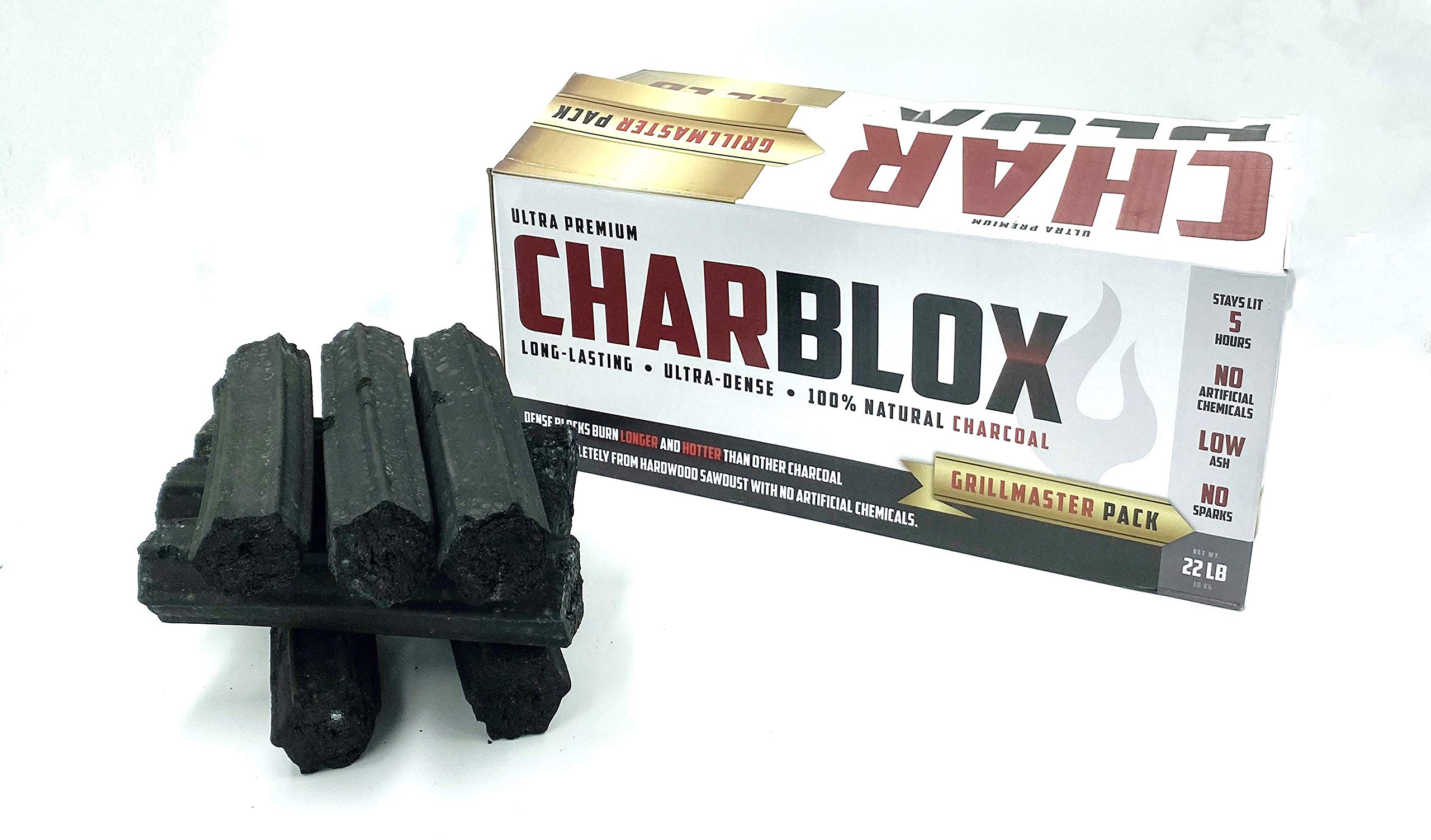 CHARBLOX Ultra Premium Hardwood Grilling Charcoal Logs - Grillmaster Pack by CHARBLOX