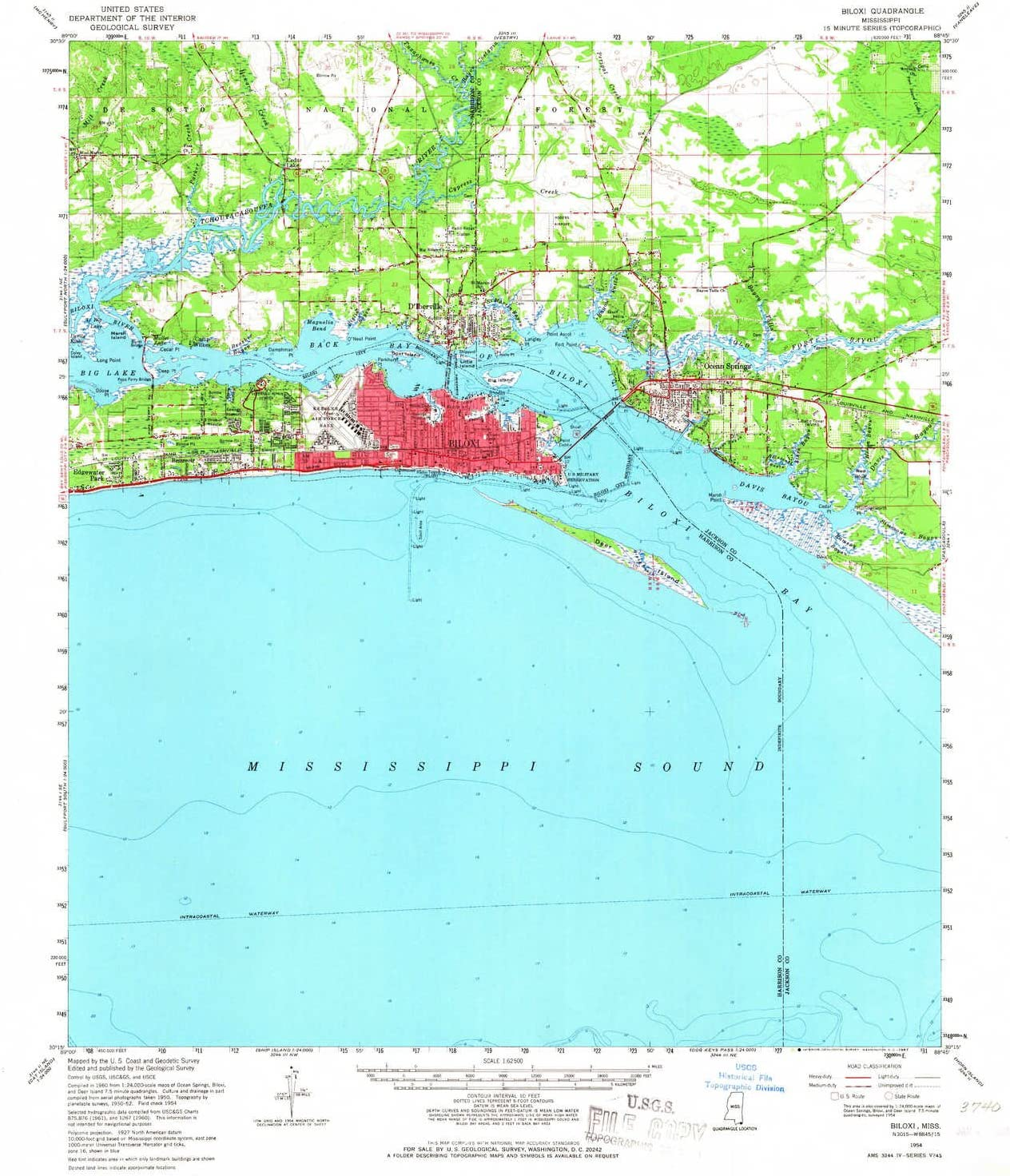 Amazon Com Yellowmaps Biloxi Ms Topo Map 1 62500 Scale 15 X 15