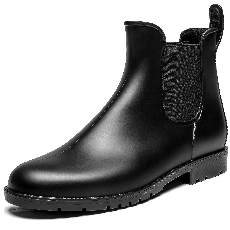 SAGUARO Noir Tige Courtes pour Femme en Bottes Courtes Bottes en Caoutchouc Bottes en Caoutchouc Etten Pluie Bottes Chelsea Boots Nouveau Noir 1f9ef64 - therethere.space