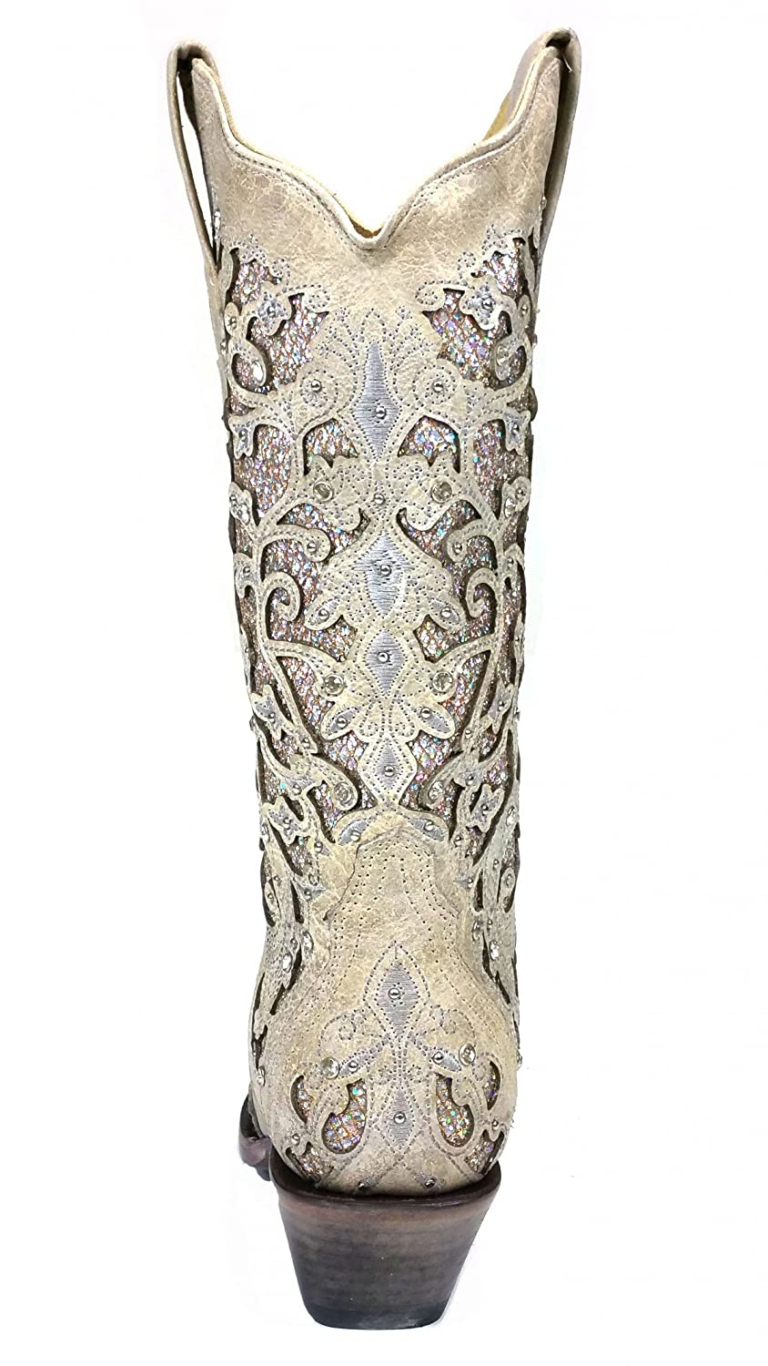CORRAL A3322 Martina White Women's Fashion Glitter Inlay Crystals Wedding Fashion Women's Western Boots B06XS36GH7 7.5 B(M) US|White 154dfc