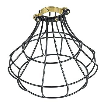 Industrial Vintage Style Light Cage L&shade for Pendant Light L&s Black  sc 1 st  Amazon.com & Industrial Vintage Style Light Cage Lampshade for Pendant Light ... azcodes.com