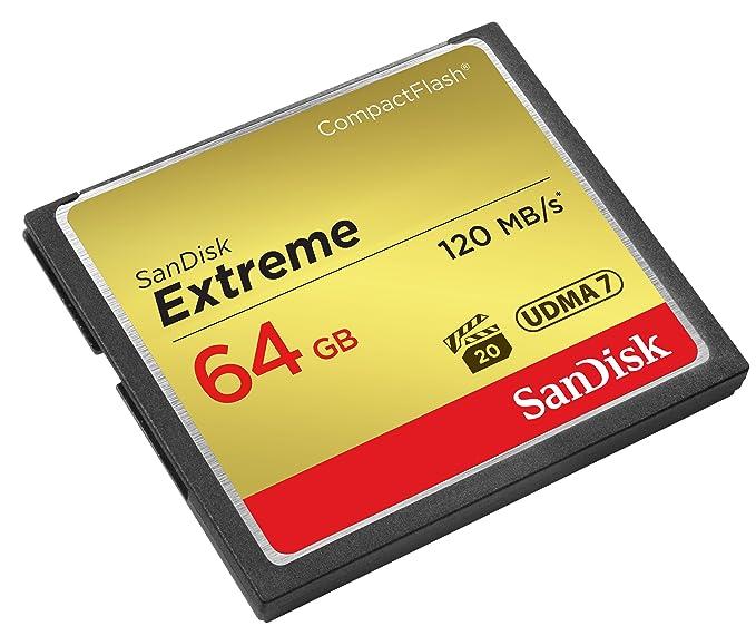 SanDisk SDCFXS-064G-X46 Tarjeta de Memoria Compact Flash de 64 GB Dorado