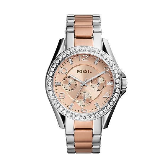 7a25eef972d9 Fossil Reloj para Mujer de ES4145  Amazon.es  Relojes