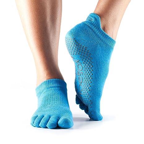 Calcetines toeSox de punta baja y bajo agarre para yoga, pilates, calcetines antideslizantes de