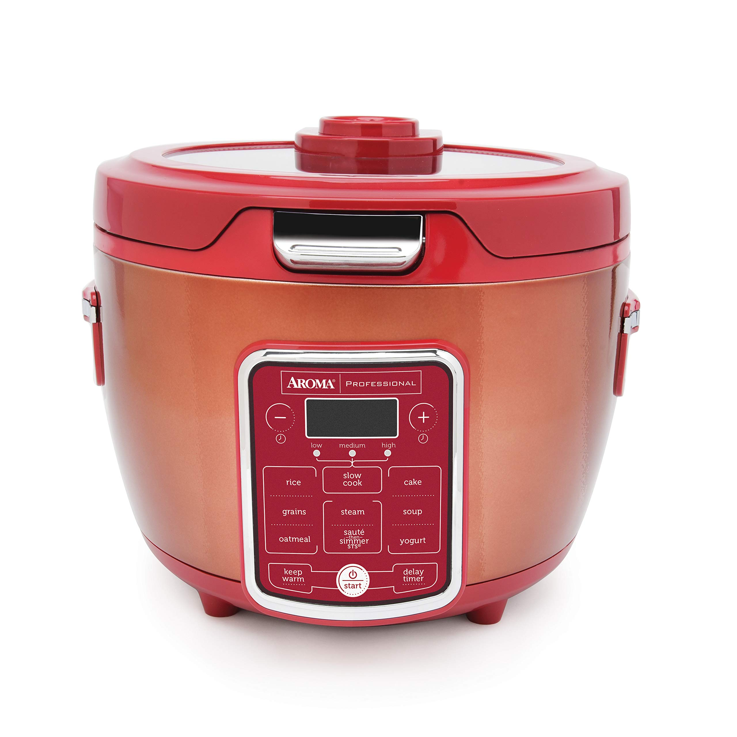 Aroma Professional ARC-1230R RICE COOKER/MULTICOOKER, 20 Cup Cooked, Red by Aroma Professional