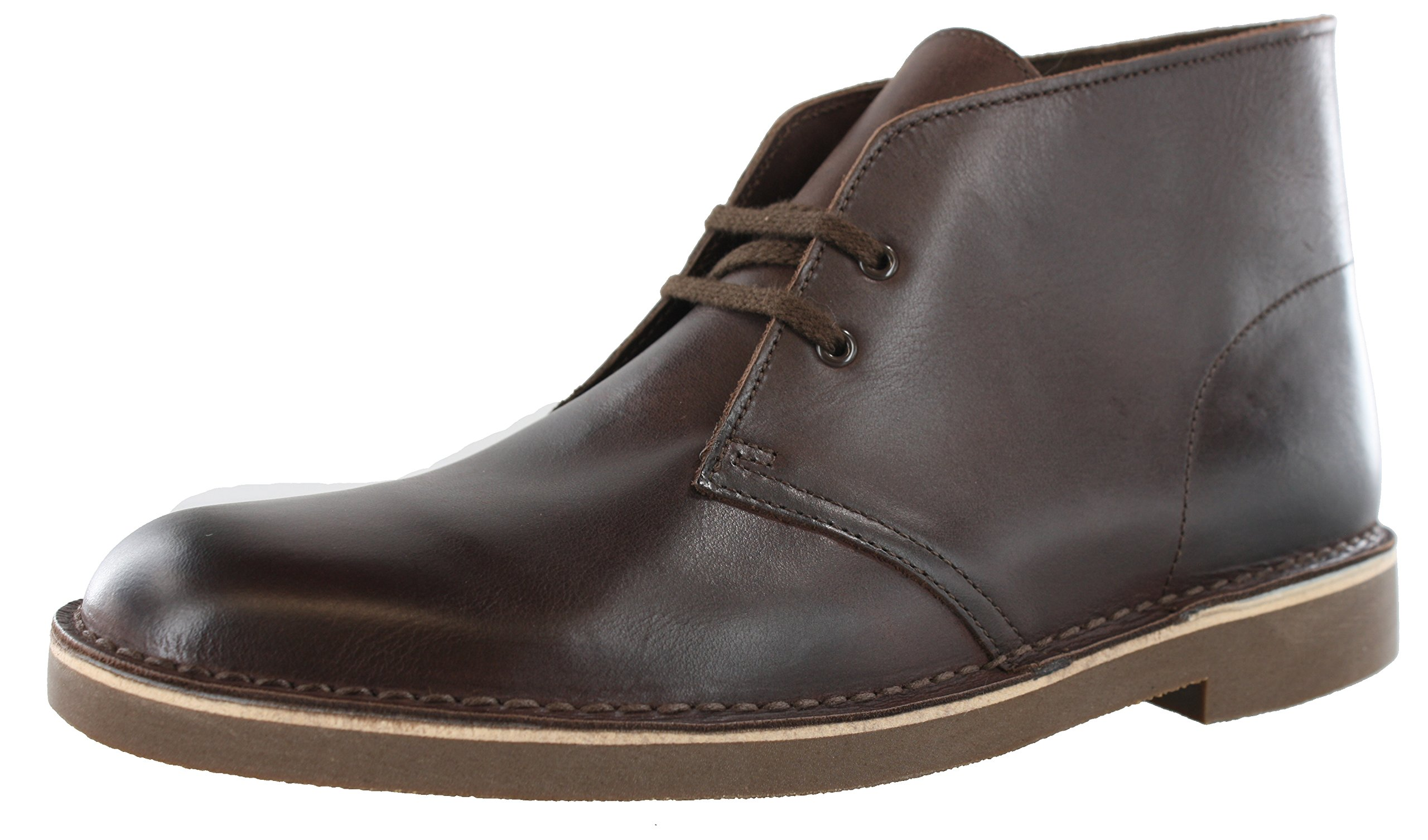 CLARKS Men's Bushacre 2 Chukka Boot, Dark Brown Leather, 10.5 M US