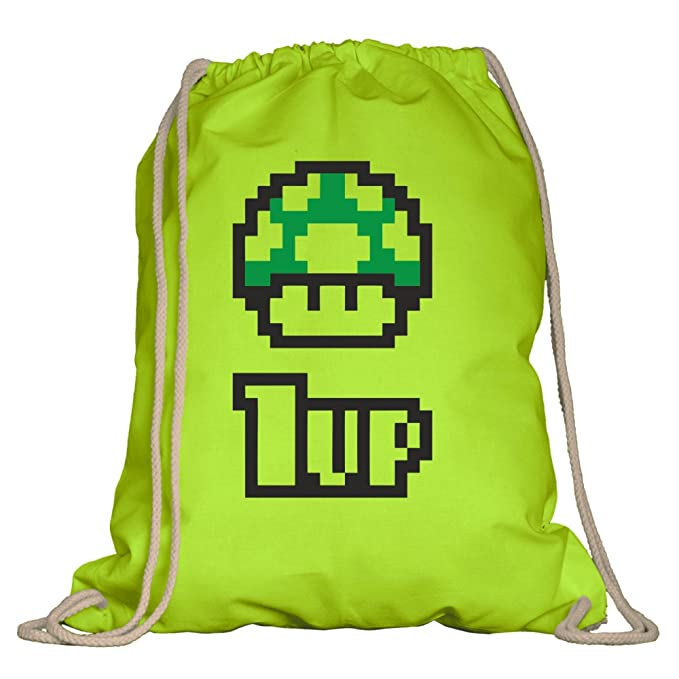 MoonWorks Herren T-Shirt Geburtstag Retro Pixel-Pilz 1-up-Pilz Level-up Gaming Konsole 90er Fun-Shirt