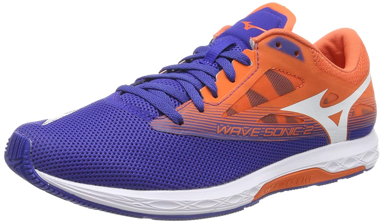 Mizuno Wave Sonic 2, Zapatillas de Running para Hombre, (Reflex Blue/White/Nasturtium 01), 43 EU: Amazon.es: Zapatos y complementos