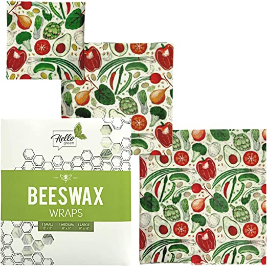Envoltorio para alimentos de cera de abeja orgánica, reutilizable ...