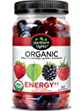 Northern Lights Organic Energy Gummy Vitamins with B-Complex, Strawberry, 11.12 Ounce