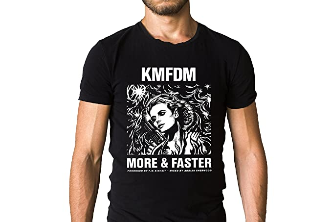 Amazon Kmfdm More And Faster Song Inspired Black T Shirt Clothing
