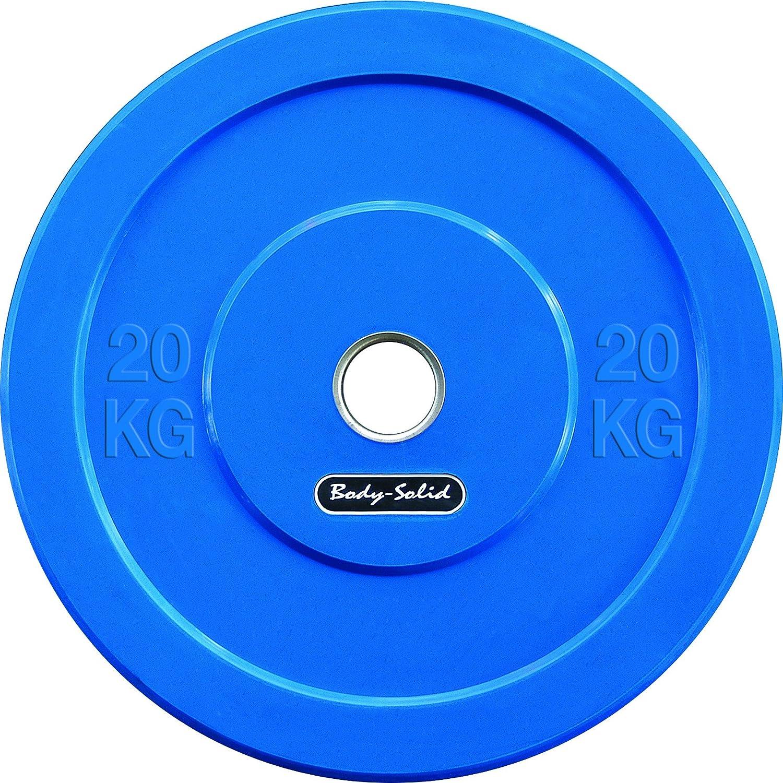 Body Solid Rubber Bumper Olympic - Disco para Pesa, Color Azul ...