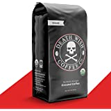 DEATH WISH COFFEE Dark Roast Coffee Grounds [16 oz.] The World's Strongest, USDA Certified Organic, Fair Trade, Arabica, Robu
