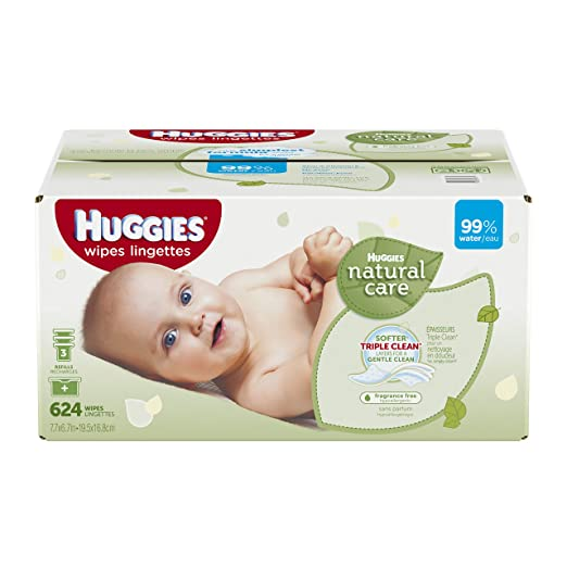 Huggies Natural Care Baby Wipes Refill, 624 Count