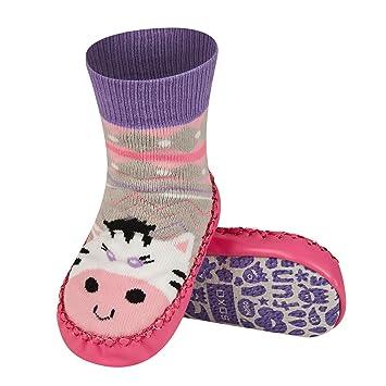 48dec698d3119 Chaussons chaussettes avec semelle en véritable cuir - Taille EUR 19-21  pour bébé 0