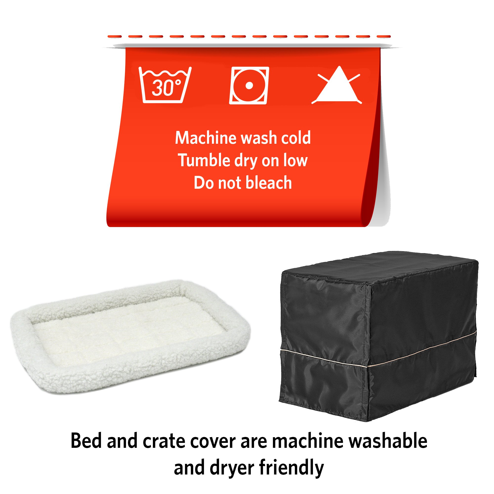 MidWest Homes for Pets Small Dog Crate Starter Kit | One 2-Door iCrate, Pet Bed, Crate Cover & 2 Pet Bowls | 24-Inch Ideal for Small Dog Breeds by MidWest Homes for Pets (Image #7)