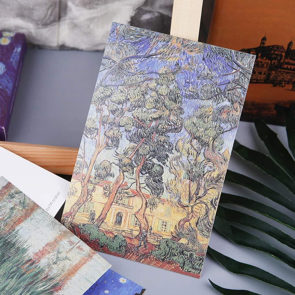 VAILANG 30 Feuilles C/él/èbre Personne Peintures R/étro Vintage Carte Postale De No/ël Carte-Cadeau Souhait Affiche Cartes Cartes Postales